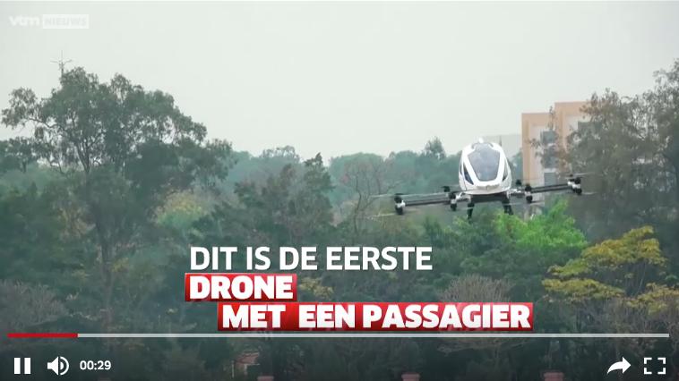 EERSTE DRONE MET PASSAGIER GETEST!